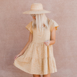 Rylee & Cru      Hometown Eyelet Dolly Dress (Tween/Women) - Citron