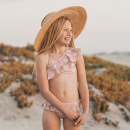 Rylee & Cru Hometown Seashell Skirted 2pc Bikini Swimsuit - Petal