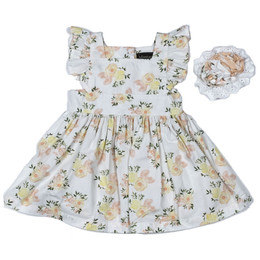 Mustard Pie  Honey Blossom 2pc Alice Dress & Hair Clip