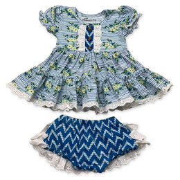 Mustard Pie  Nautical Summer 2pc Lucy Dress & Bloomer