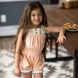 Mustard Pie  Honey Blossom 2pc Posey Romper & Hair Clip