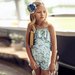 Mustard Pie  Nautical Summer 2pc Brianna Romper & Hair Clip