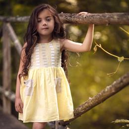 Little Prim     Sun Blossom Iris Dress - Sunshine Bisque