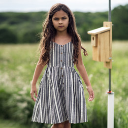 Jak & Peppar    Americana Riley Dress - Charcoal Stripe