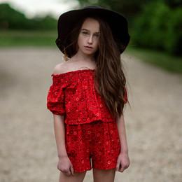 Jak & Peppar    Americana Chloe Romper - Red Print