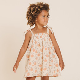 Rylee & Cru   Throwback Peaches Shoulder Tie Dress - Natural