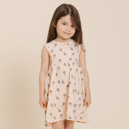 Rylee & Cru   Throwback Ice Cream Layla Dress - Soft Peach