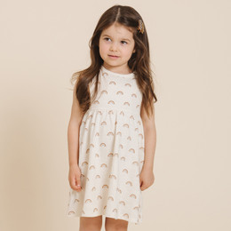 Rylee & Cru   Throwback Rainbow Layla Dress - Ivory