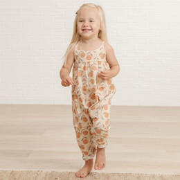 Rylee & Cru   Throwback Peaches Gigi Jumpsuit - Natural