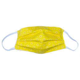 Haute Baby     Double Layer Pleated Cotton Face Mask - Yellow Floral
