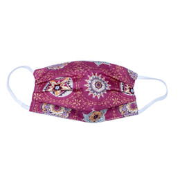 Haute Baby     Double Layer Pleated Cotton Face Mask - Multi Floral