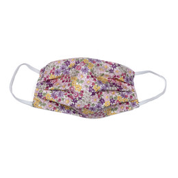 Haute Baby     Double Layer Pleated Cotton Face Mask - Spring Floral