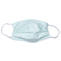 Haute Baby Double Layer Pleated Cotton Face Mask - Aqua Confetti