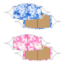 Shade Critters Face Masks w/Filter Pockets - Blue Tie Dye & Pink Tie Dye (4-12 Years)