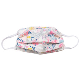 Haute Baby     Double Layer Pleated Cotton Face Mask - Flowers