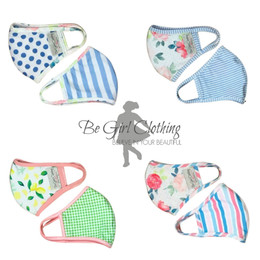 Be Girl Clothing    Double Layer Reversible Face Masks - 4 PACK!