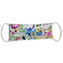 Haute Baby Double Layer Pleated Cotton Face Mask - Watercolor Floral