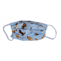 Haute Baby Double Layer Pleated Cotton Face Mask - Puppies