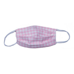 Haute Baby Double Layer Pleated Cotton Face Mask - Pink Check