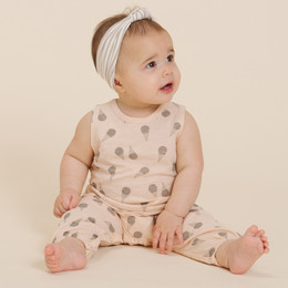 Rylee & Cru  Throwback Ice Cream Mills Jumpsuit - Soft Peach