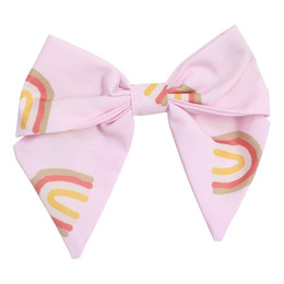 Be Girl Clothing   Boho Rainbow Classic Bow - Rainbow