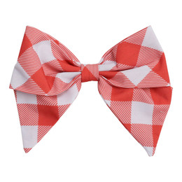Be Girl Clothing   Boho Rainbow Classic Bow - Rust Check