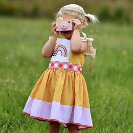 Be Girl Clothing   Boho Rainbow Iris Dress