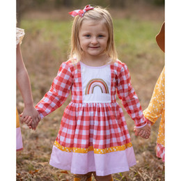 Be Girl Clothing   Boho Rainbow Claudia Dress