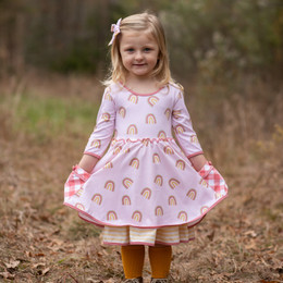 Be Girl Clothing   Boho Rainbow Bethany Dress