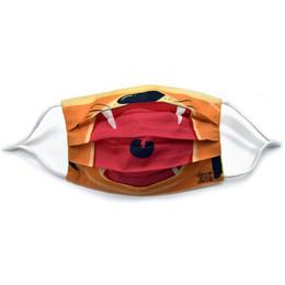 Deux Par Deux   3 Layer Cotton Face Mask - Tiger - Kids & Adults