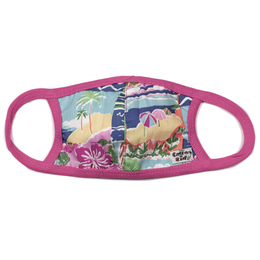 Cotton Kids Double Layer Cotton Face Mask w/Filter Pocket - Tropical Beach