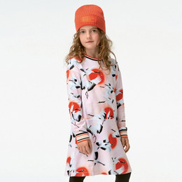 Molo Conny Organic Knit Dress - Sunrise Cranes