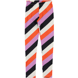 Molo     Niki Organic Leggings - Diagonal Stripe