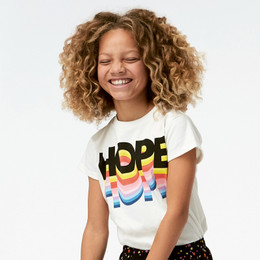 Molo     Ranva Hope Rainbow Tee - Off White