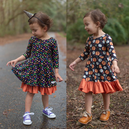 Evie's Closet    Fall20 Halloween / Harvest Reversible Knit Dress