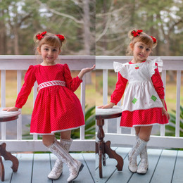 Evie's Closet    Holiday20 Strawberry 3-N-1 Dress Set