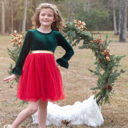 Evie's Closet    Holiday20 Holly Bells Tulle Dress