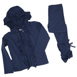 Evie's Closet    Fall20 2pc Hooded Cardigan & Legging Set -  Navy