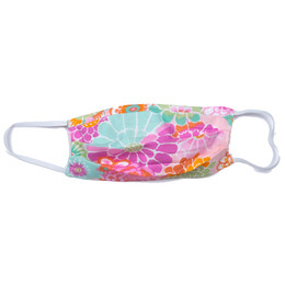 Haute Baby      Double Layer Pleated Cotton Face Mask - Bright Floral