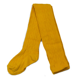 Jefferies Socks Classic Cable Tights - Mustard