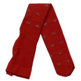 Mayoral   Heart Tights - Carmine Red