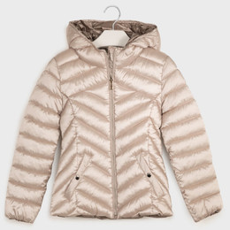 Mayoral    Hooded Lightweight Puffer Jacket - Champagne