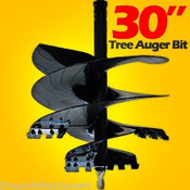 "30"" McMillen Tree Auger Bit For Skid Steer Augers, Uses 2.56"" Round Drive"