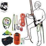 Tree Climbing Rope Kit, Deluxe w/ Viking Saddle,150'Rope, Flipline & More