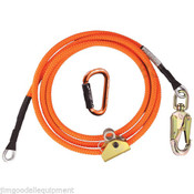"Tree Climber Flipline Kit,1/2"" X 15' Climb Right High Vis w/Adjuster & Carabiner"