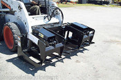 "72"" Wide Medium Duty Skid Steer Root Grapple , 8 Tines, 10"" Spacing, Covered Cylinders, 2 Clamps ETG72"