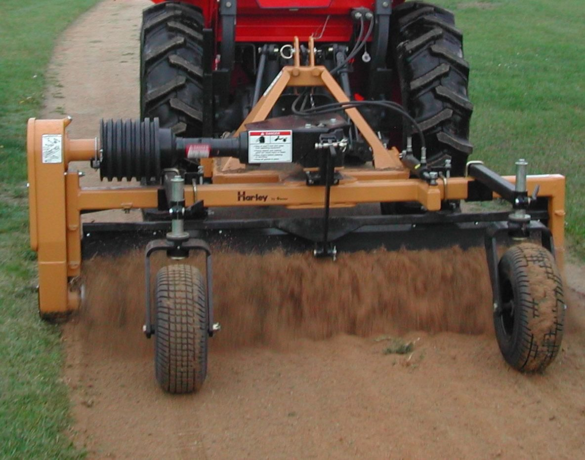 Categories - 6' Harley Power Landscape Rake, Tractor 3 Point Hitch Mount