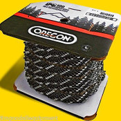 "Oregon 72LGX100 Ft Roll Full Chisel Chain 3/8"" x .50 Gauge, Fits Large Stihl, Husqvarna"