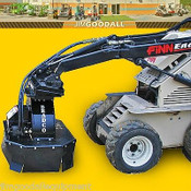 "Stump Grinder for Mini Skid Steer Loaders, 7"" Depth,Manual Rotate, Fits Most Mini Skid Steers"
