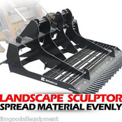 "Skid Steer & Farm Tractor Attachment, Bradco 78"" Landscape Plane, Driveway, Dirt"
